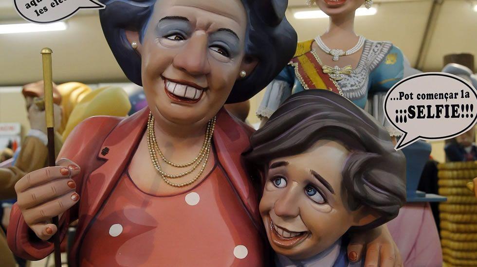 Como alcaldesa de Valencia, Rita Barberá fue protagonista en muchas ocasiones de «ninots» de las Fallas.