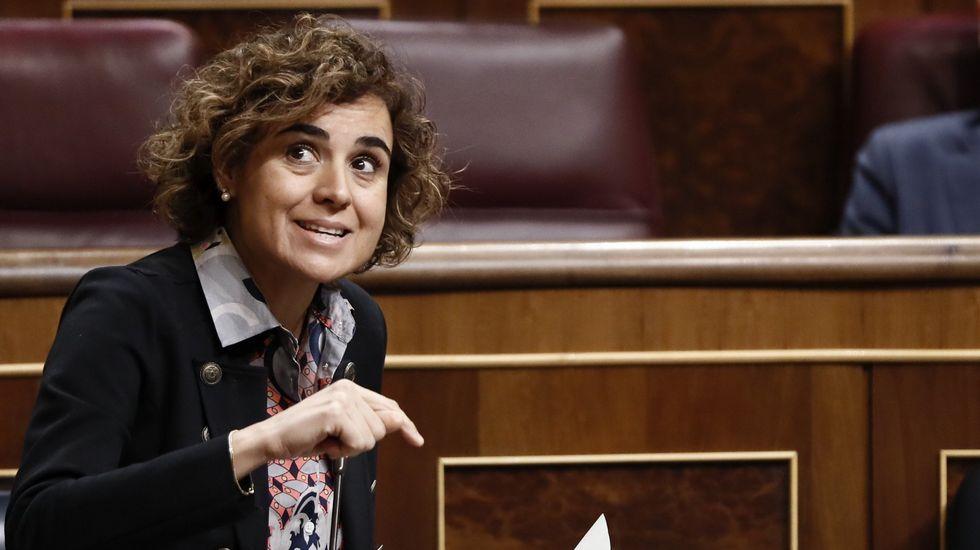 10 formas de violencia de género digital.La ministra de Sanidad, Dolors Montserrat, durante la presentación de Barcelona para albergar la sede de la Agencia Europea del Medicamento.