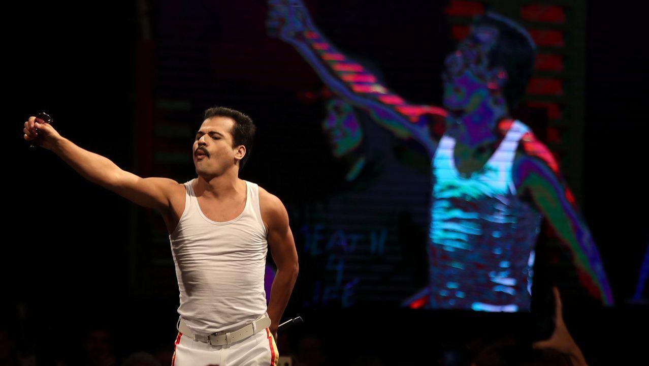 Bohemian Rhapsody.Rami Malek, que interpretó a Freddie Mercury en  Bohemian Rhapsody , es uno de los favoritos en la categoría de mejor actor