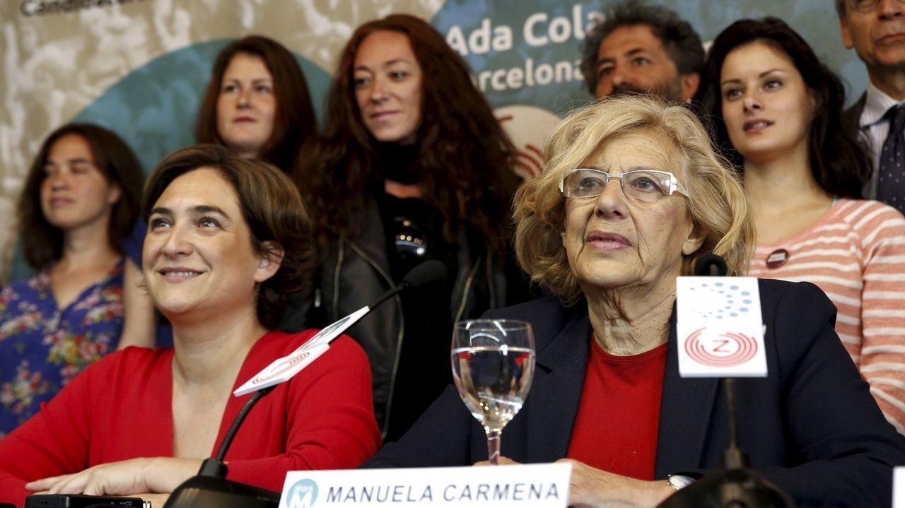 La Asociación de la Prensareivindicasus derechos en Oviedo.El secretario general de Podemos y candidato a la Presidencia del Gobierno, Pablo Iglesias, durante el acto celebrado en el polideportivo La Camocha de Gijón.