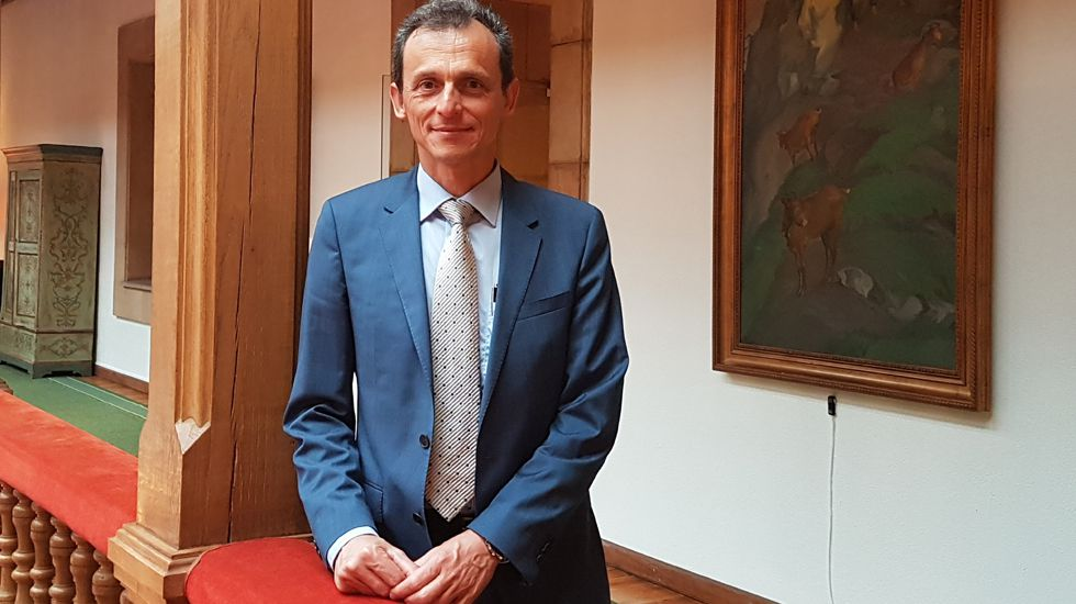 El astronauta español, Pedro Duque.El astronauta español, Pedro Duque