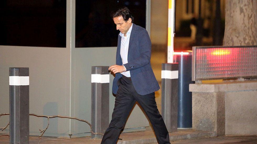 El consejero de OHL Javier López Madrid, a su salida de la Audiencia Nacional tras declarar ante el juez Eloy Velasco