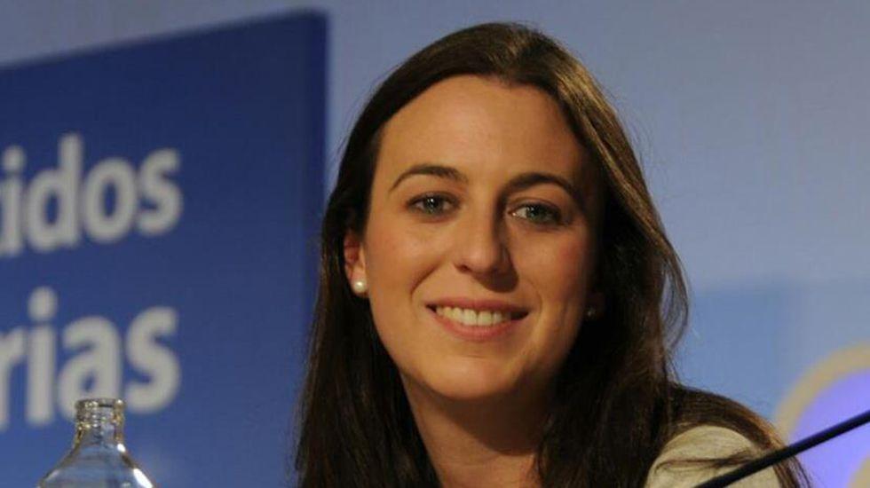 Mercedes Fernández en rueda de prensa.Reyes Fernández Hurlé