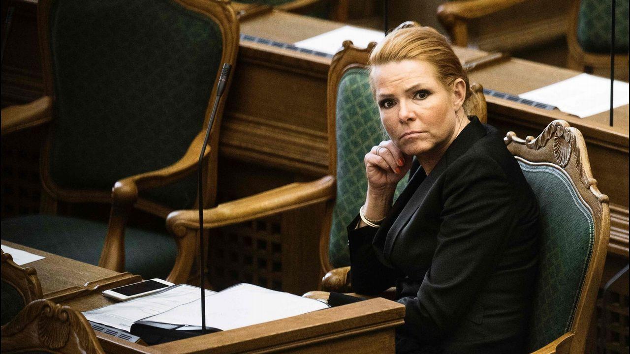 .La ministra de Integración danesa,  Inger Stojberg