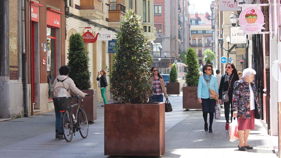 La primavera colorea Galicia.Calle de La Merced