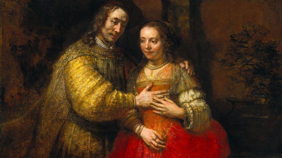 El nuevo retrato de Rembrandt, al detalle.La seguridad y la confianza expresadas en las manos. Lienzo de Rembrandt conocido como «La novia judía» (1667, Museo Nacional de Ámsterdam)