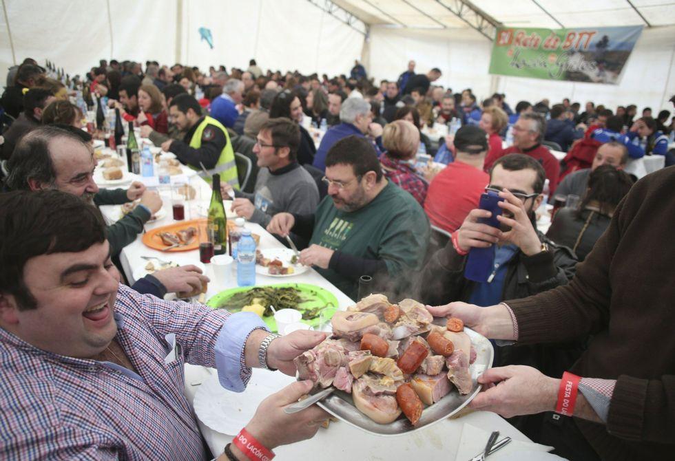 El plato fetiche de la gastronomía gallega tiene fiesta propia en Cuntis desde hace 19 años.