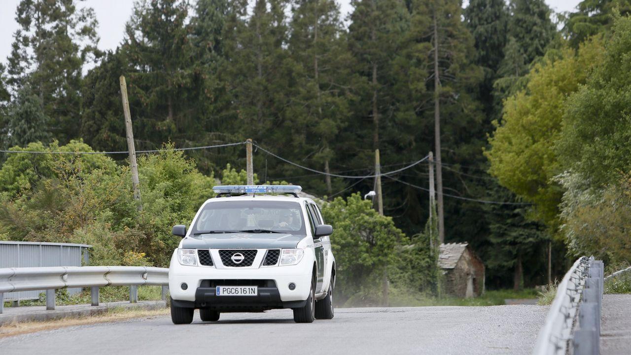 Redada en Lugo contra la delincuencia común.Coche de la Guardia Civil