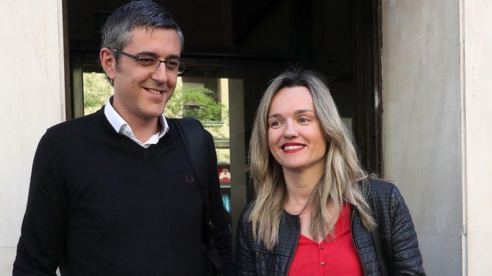 Sánchez vaticina que si gana Susana Díaz las primarias el PSOE será tercera fuerza.Adriana Lastra