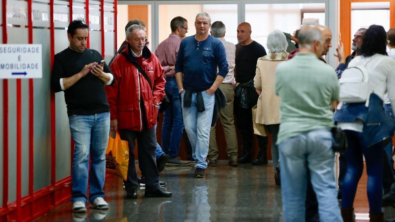 Encierro de los trabajadores de la zona azul de Vigo