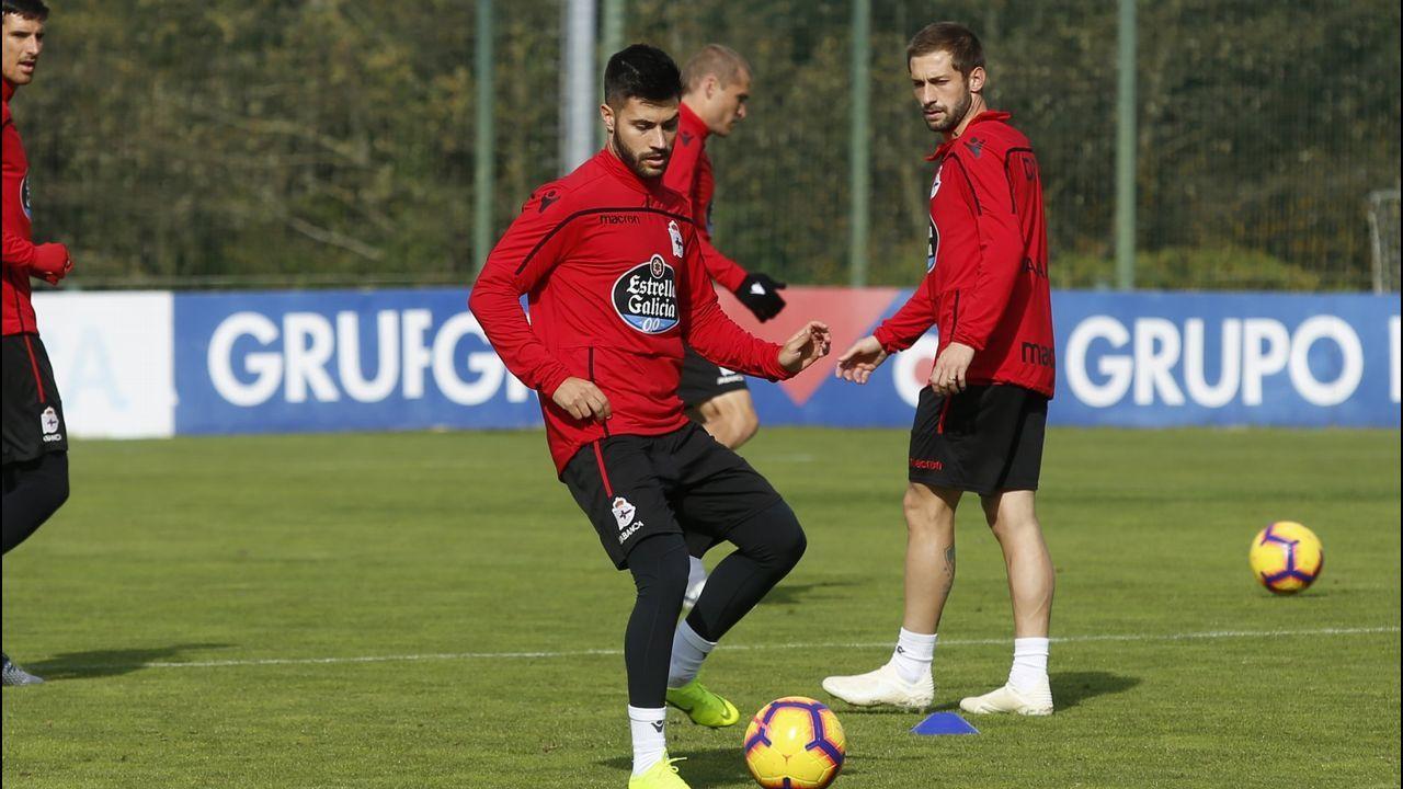 Rueda de prensa de Álex Bergantiños.Imagen del amistoso entre Oviedo y Dépor en 2017