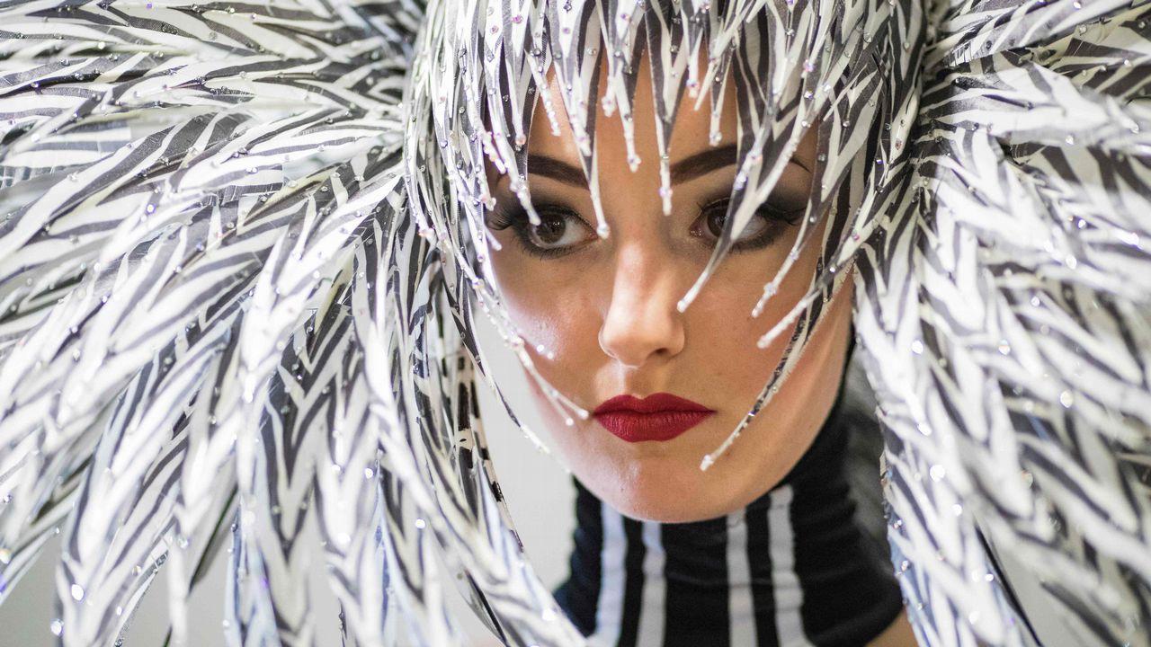 Bailarín en el ensayo del próximo espectaculo de Krista Monson, en Berlín