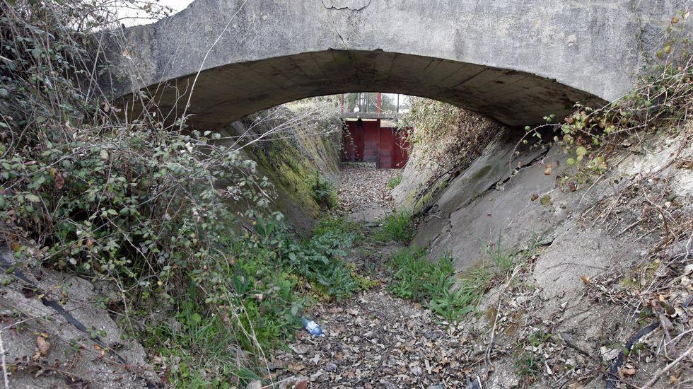 Tramo del canal  a su paso por Reigada, en una imagen de archivo