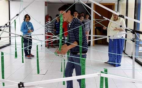 Participantes nunha das probas da xincana sobre Díaz Castro.