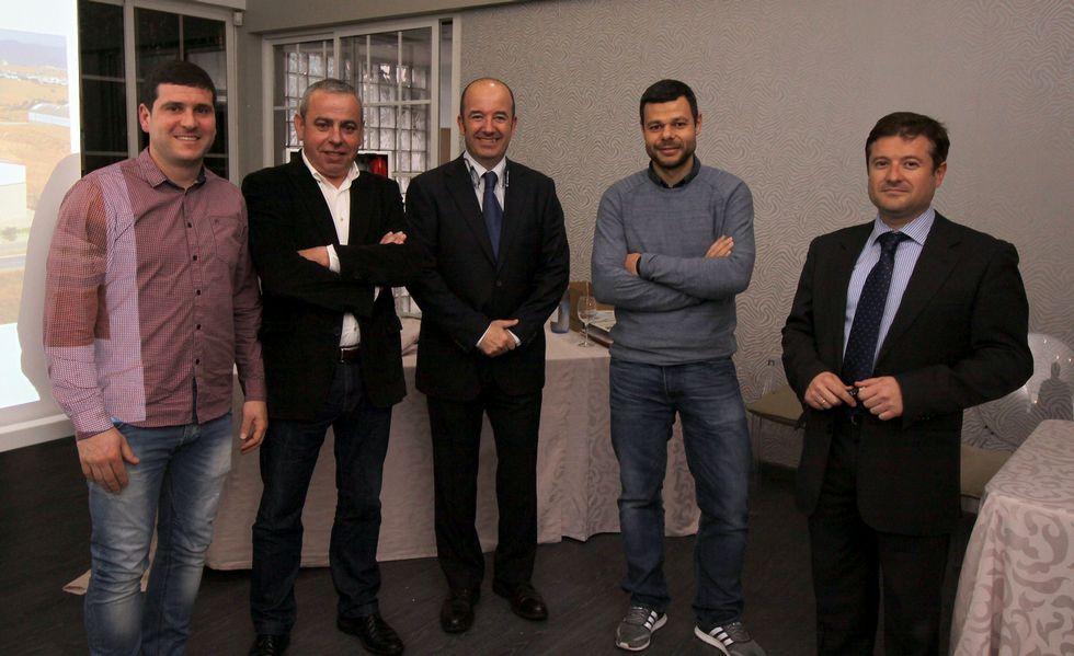Viturro, Calvo, Krug, Hernández y Romero, los organizadores.