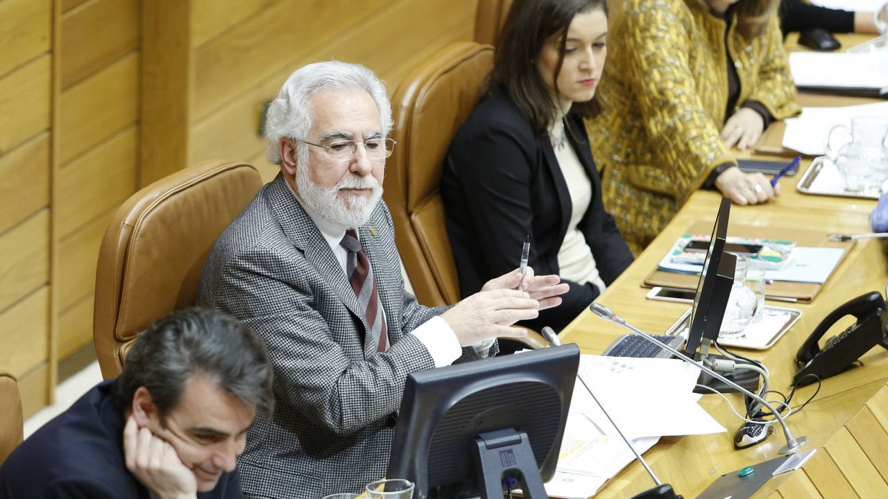 Álvarez, onte no Parlamento galego, durante a súa comparecencia na comisión de Cultura