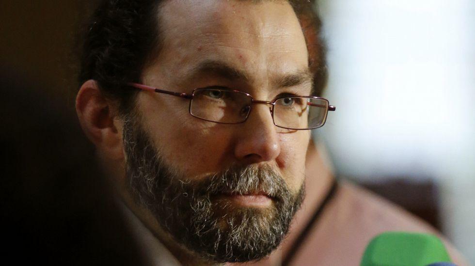 . El portavoz de Podemos en la Junta General del Principado, Emilio León