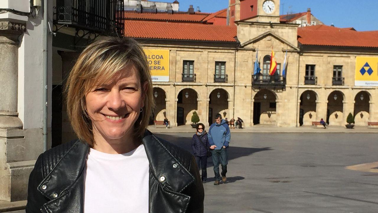 Centro penitenciario de Villabona.Esther Llamazares, candidata del PP a la Alcaldía de Avilés