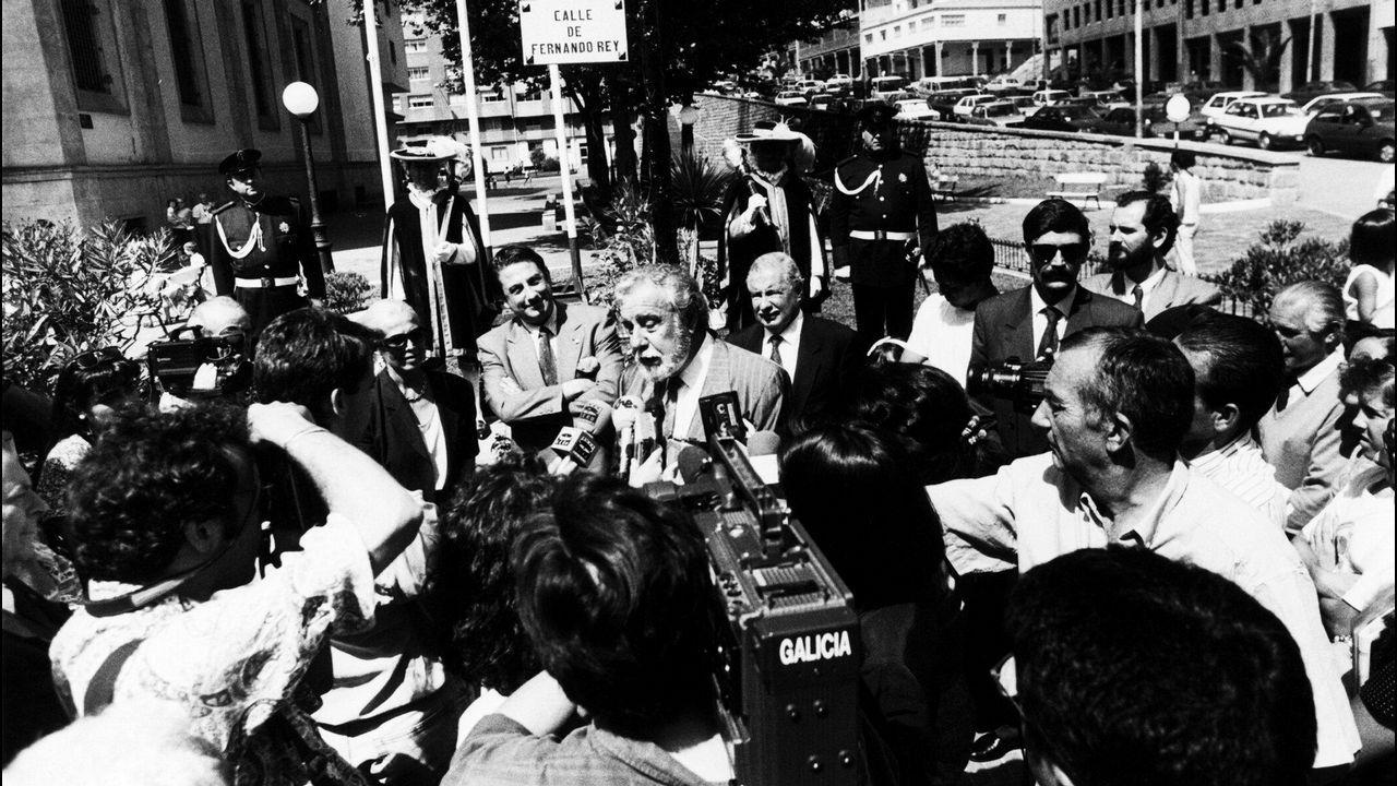 Rodaje en Málaga de «Genius: Picasso».Morricone, Serrat, Scorsese y Raphael
