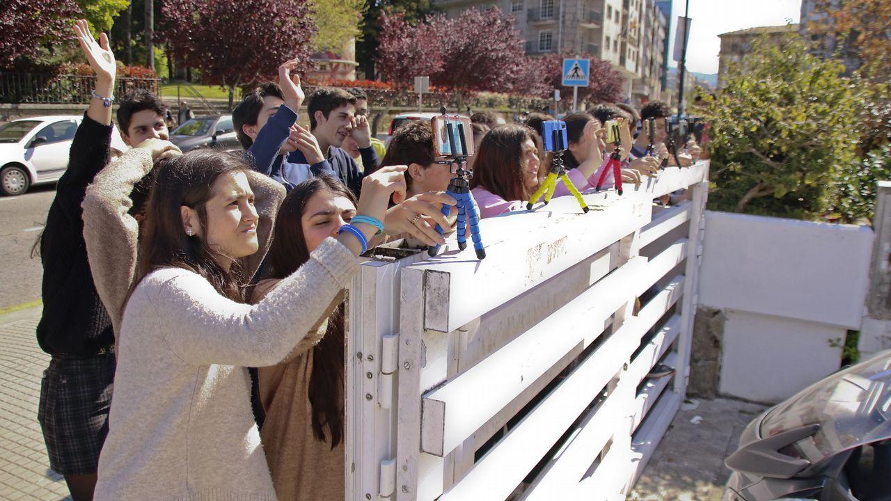 Enfrentamiento de alumnos de la Universidad de Oviedo y de simpatizantes de Vox en el campus de El Milán