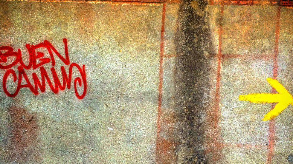 Inscripción en un muro..Inscripción en un muro.