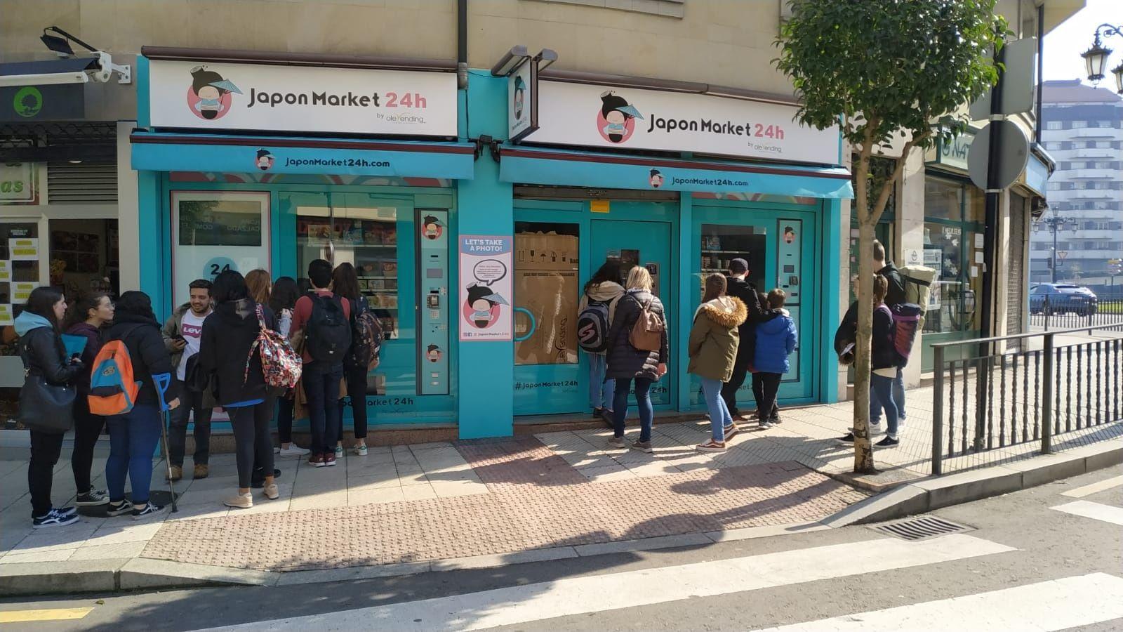 Así customizará Zara los vaqueros de sus clientes.Máquinas expendedoras de comida japonesa en Oviedo