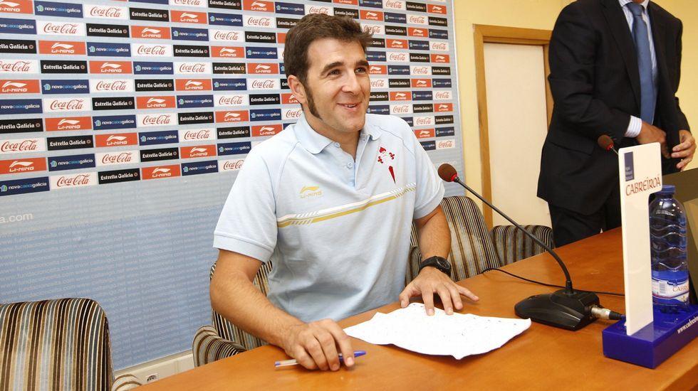 Gonzo ha colaborado con el club en más de una ocasión; en la imagen, presentando la campaña de abonados en el 2011