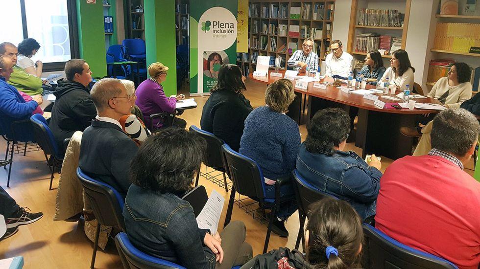 Rueda de prensa de Plena inclusión Asturias y la Asociación de la Prensa de Oviedo