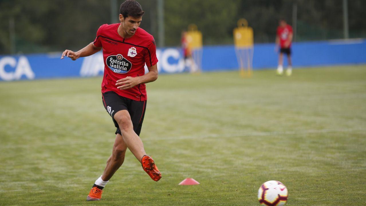 Las fotos del Las Palmas - Deportivo.Bernardo Tapia, en un entrenamiento