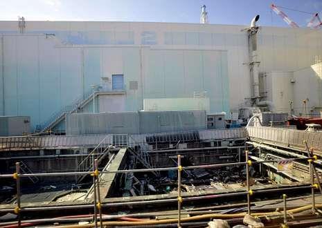 Foto tomada el 28 de febrero de 2012 del edificio del reactor número 2 de la planta de Fukushima.