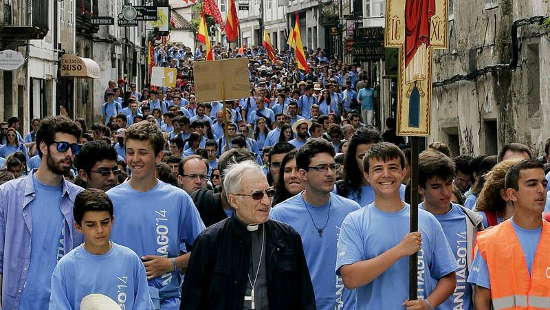 Cerca de 1.000 jóvenes católicos recuerdan en Santiago la visita de Juan Pablo II