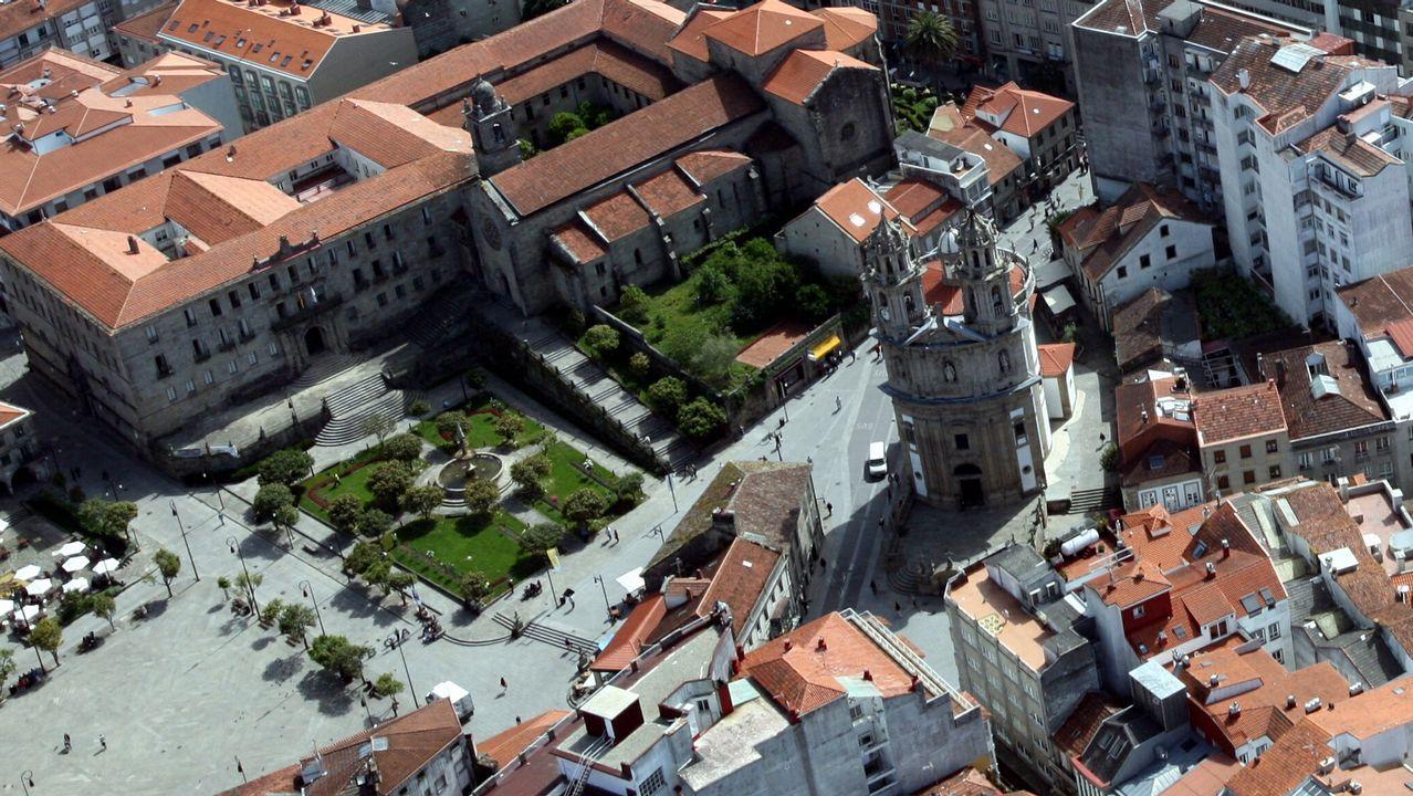 .Imagen aérea de Pontevedra