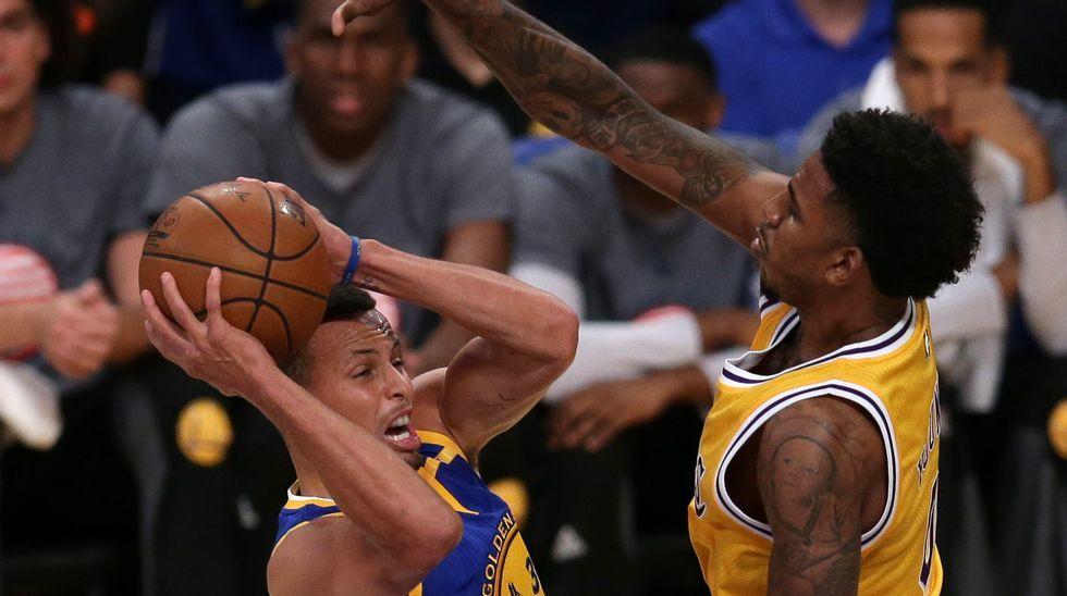 La dura derrota de los Warriors ante los Lakers.