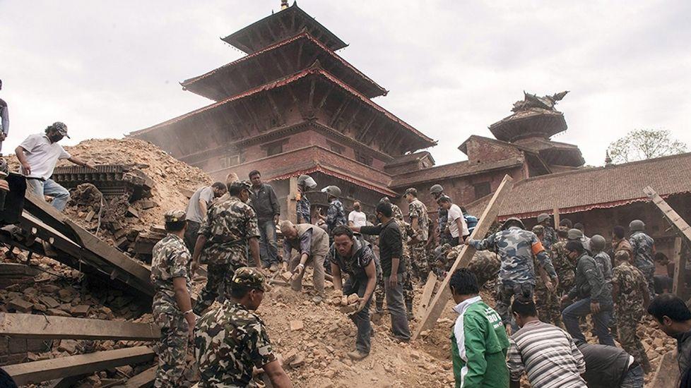 Destrucción en Katmandú