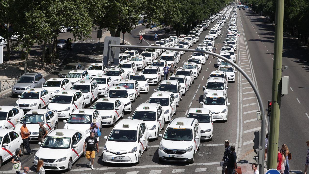 Las protestas de los taxistas por toda España