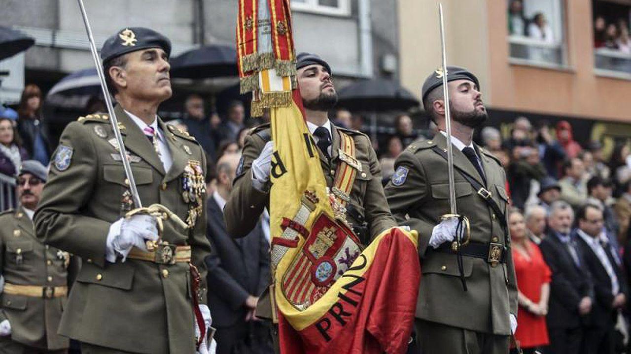 Jura de bandera en Pola de Siero.Jura de bandera en Pola de Siero