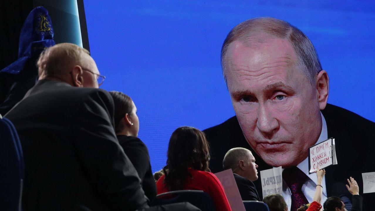 Putin abre la puerta a un posible conflicto nuclear.Juan Guaidó, durante su jura como presidente interino de Venezuela