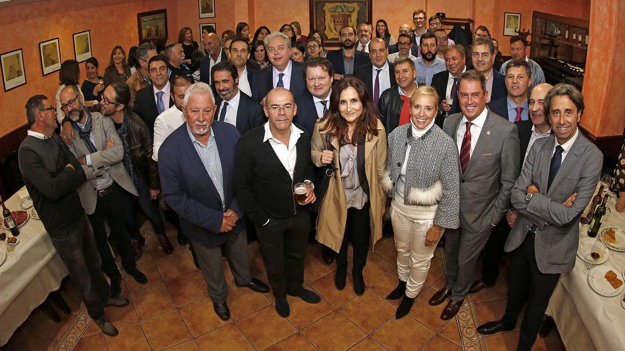 Fiesta del patrón de los abogados en el restaurante Xardín