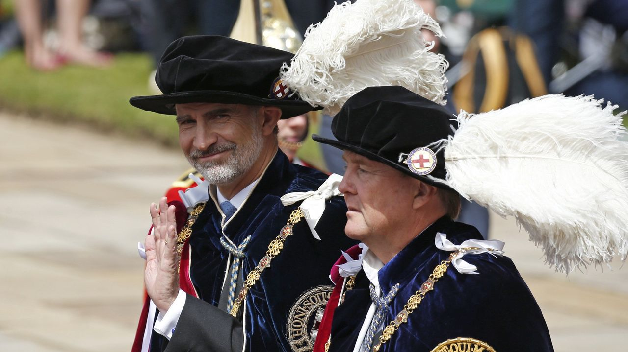 Los cinco años de reinado de Felipe VI en imágenes.Felipe VI junto a Guillermo de Holanda