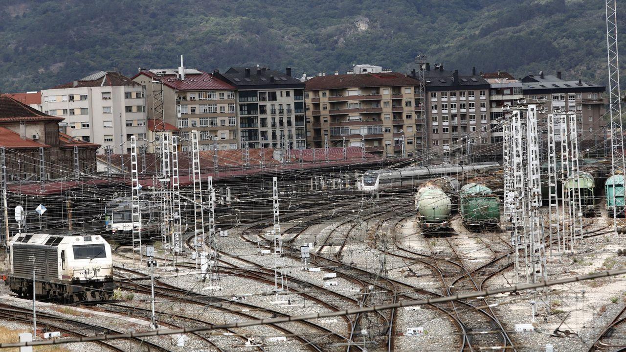Túnel debajo de Cerdedelo, que da acceso a las obras del viaducto de Teixeiras, en Ourense
