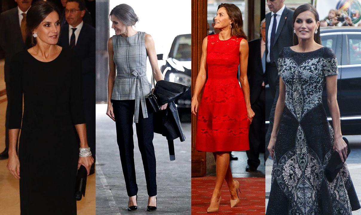 La reina de la crónica rosa.Los vestidos de Letizia durante la semana de los Premios Princesa 2018