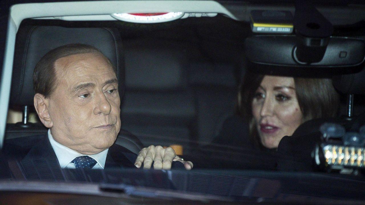A la búsqueda del debate perfecto.Berlusconi acudió a la cita sin Salvini, su principal aliado