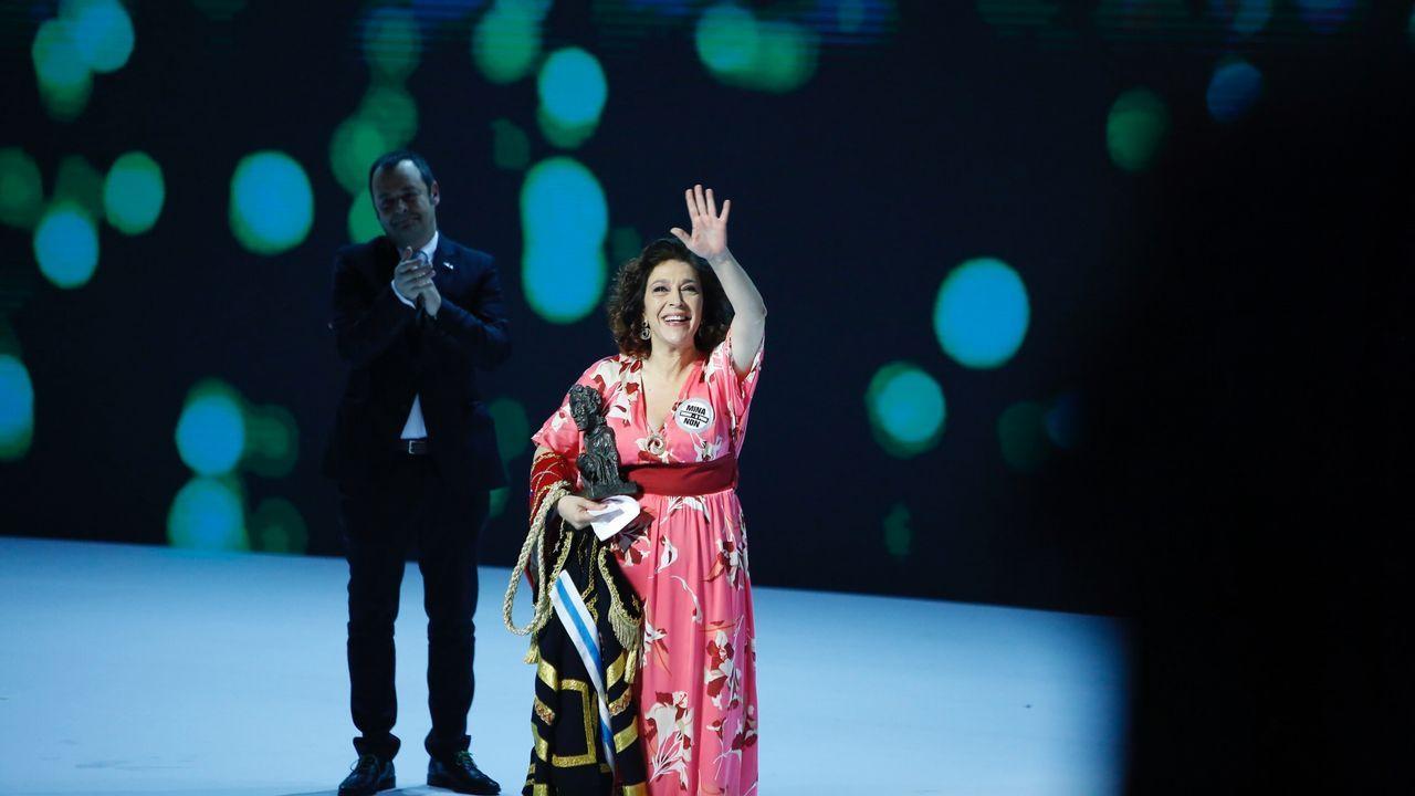 La actriz Maria Bouzas recibió el Premio de Honra por toda su carrera artistica
