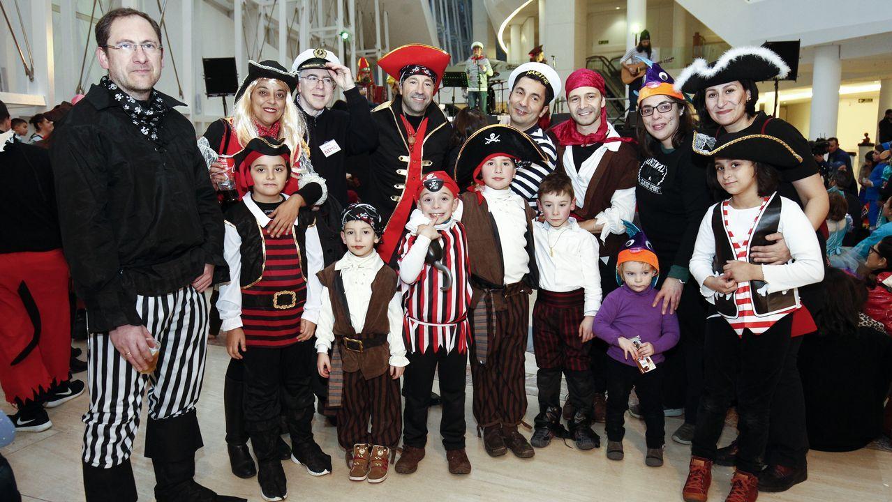 Fiesta de disfraces en la Cidade da Cultura