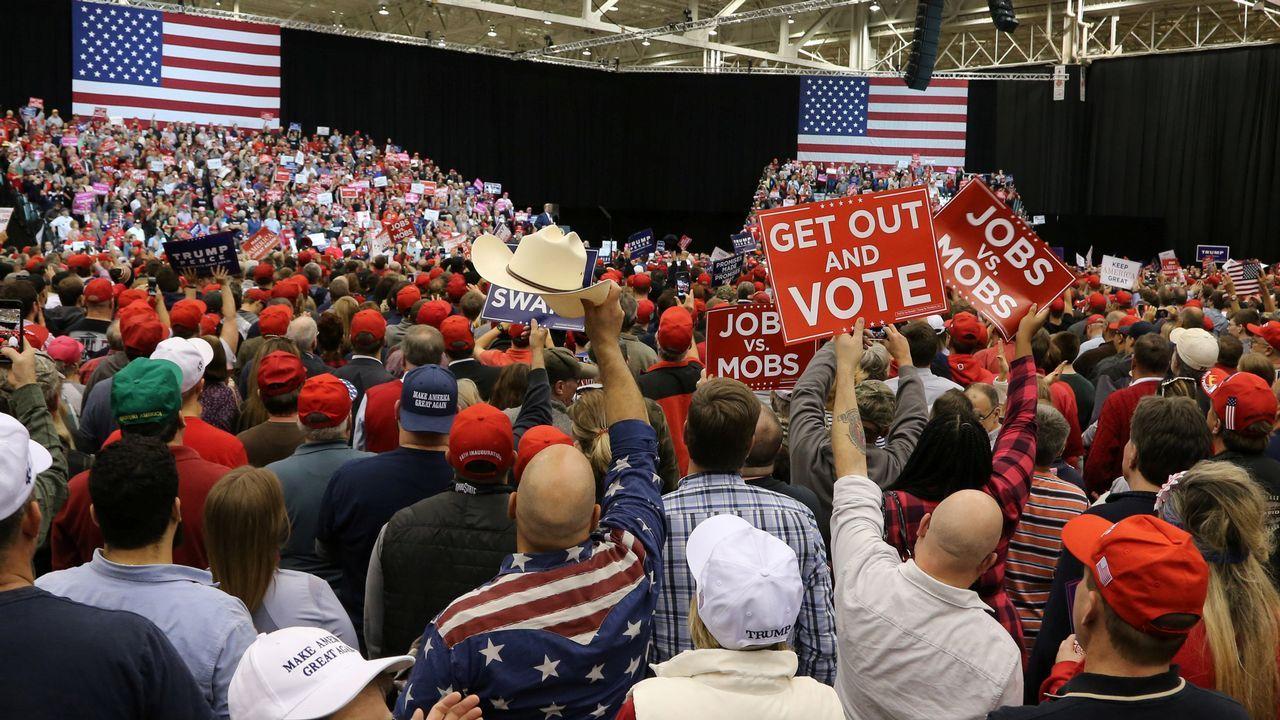 Cierre de campaña de Donald Trump en Ohio