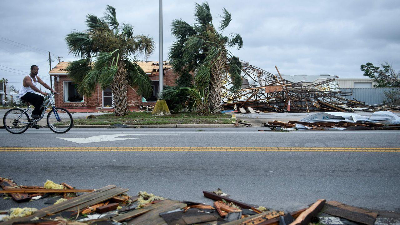 Efectos del huracán Michael, en Florida