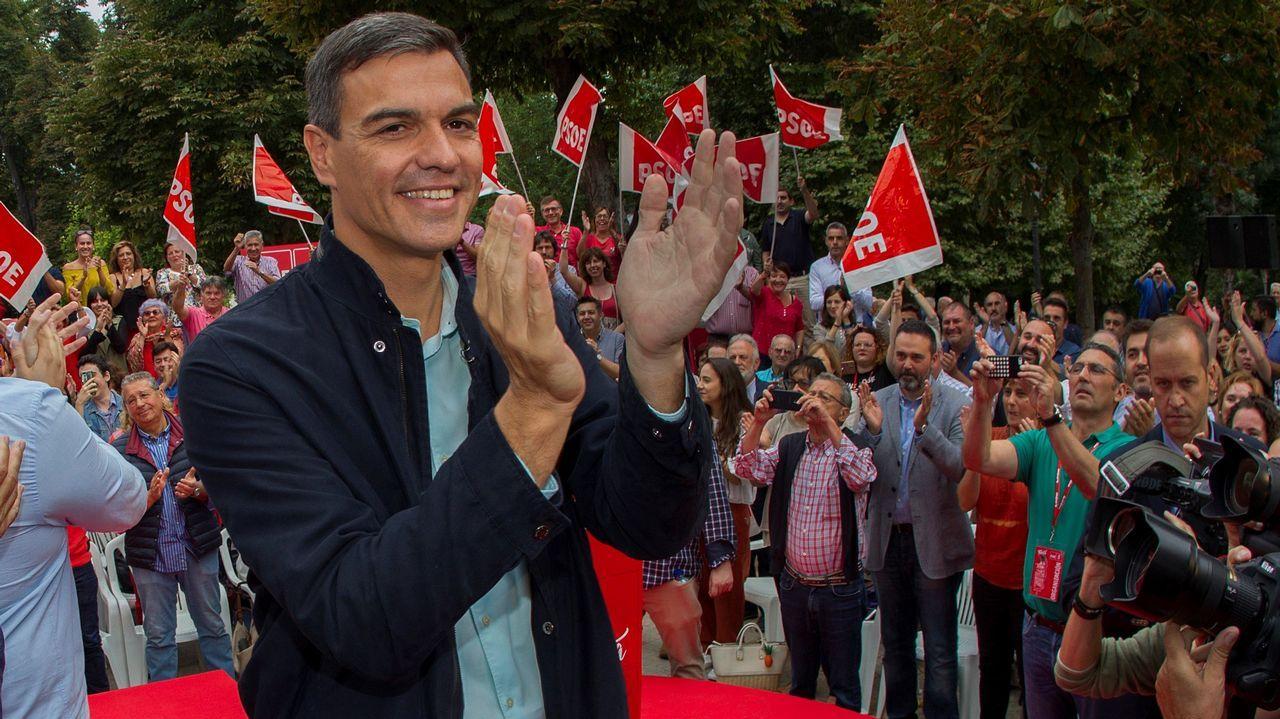 .El presidente del Gobierno, Pedro Sánchez, asiste hoy en Oviedo a su primer acto público del PSOE desde que accedió a la jefatura del Ejecutivo y coincidiendo con sus cien días de gestión desde que prometió el cargo ante el Rey