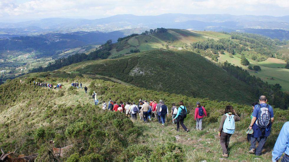 Somos Oviedo explica las actuaciones del tripartito en el Monte Naranco.Ana Taboada, Wenceslao López, Ana Rivas y Cristina Pontón