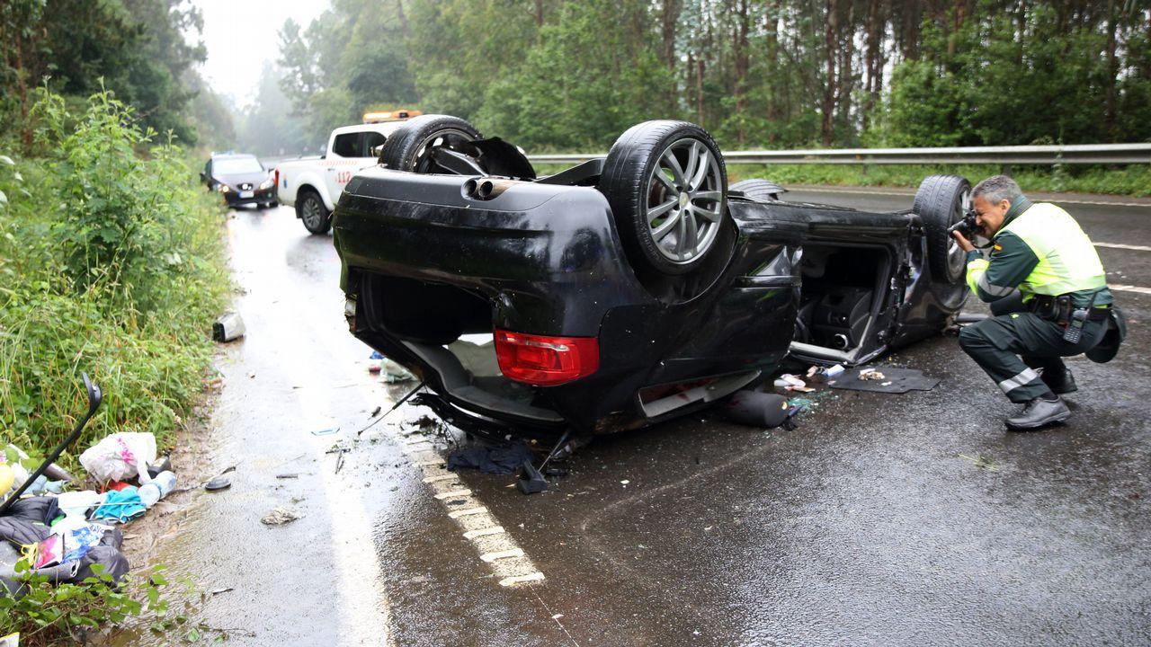 Muere un joven de 27 años en un accidente de tráfico en Coristanco.