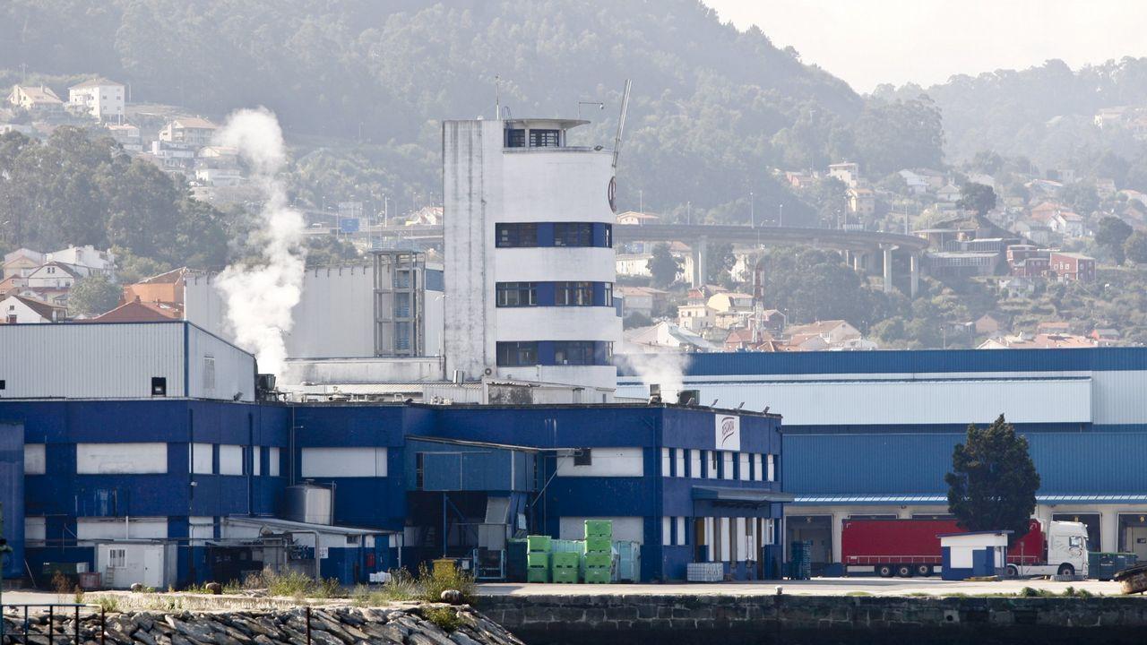 La ministra de Industria y Turismo, de paseo por Vigo.Fábrica de Pescanova en Redondela
